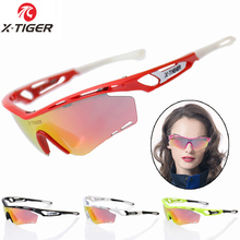 X-Tiger Brand Women Polarized Cycling Sun Glasses 2017 Bike Sunglasses TR90 Outdoor Sports Bicycle Goggles Eyewear With 5 Lens