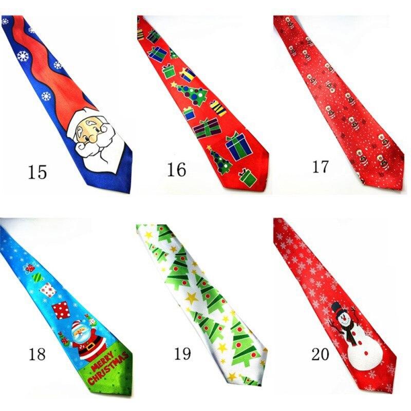 Polyester Mens 9.5cm Neck Ties For Christmas Gift Helloween Necktie Gravata Christmas Ties for Mens