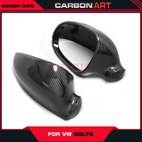 For Volkswagon VW golf mk5 carbon fiber mirror caps covers replacement auto car spare parts styling 2004 2008 decorations