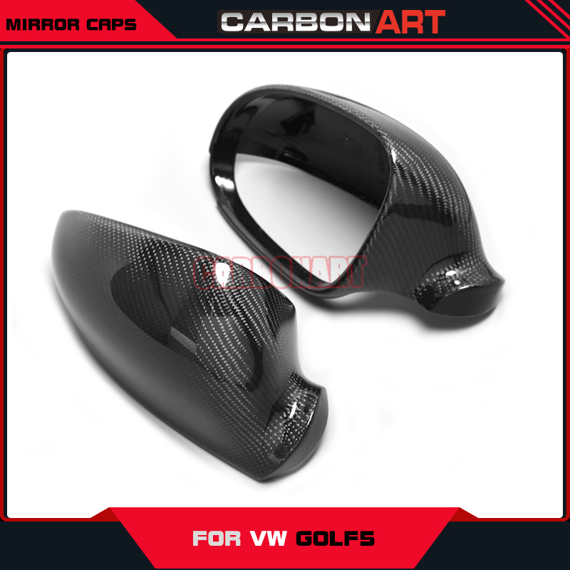 For Volkswagon VW golf mk5 carbon fiber mirror caps covers replacement auto car spare parts styling 2004-2008 decorations