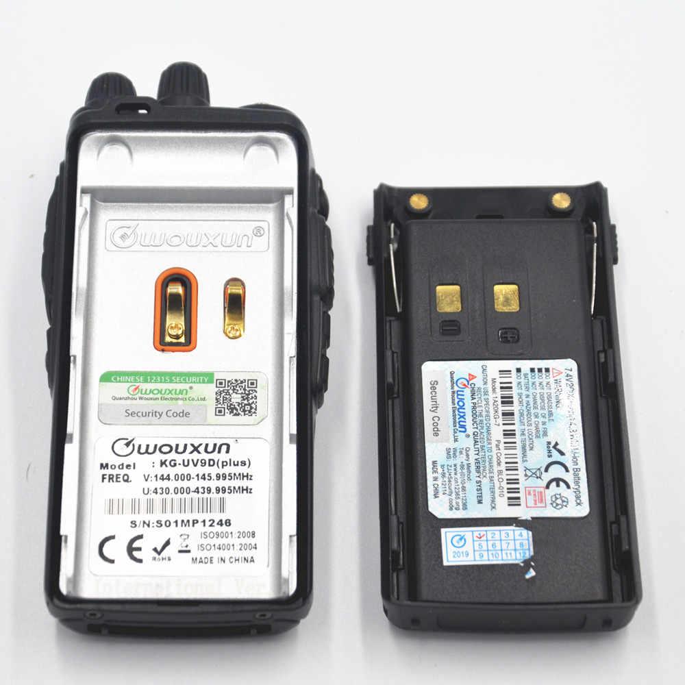 Vente chaude Wouxun KG-UV9D plus talkie-walkie UV 144-146/430-440 MHzMHZ mulit-bande recevoir KG UV9D Radio bidirectionnelle pour la sécurité