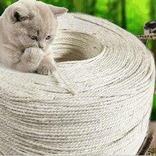 1 м, 3 м, 5 м, 10 м, сизальная веревка для кошек, когтеточки для когтей, для изготовления лапок на столе, веревка для скалолазания кошек