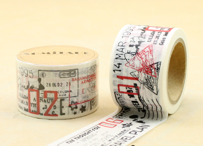Beautiful High Quality 30mm*10m Washi  Tape/wider Travel Letter  Stamp  Diy And Masking Japan Washi Tape