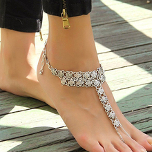 Women's Vintage Sexy Antique Silver Plated Anklet Chain Bracelet Foot Jewelry