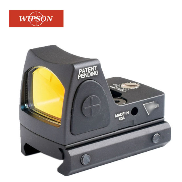 WIPSON Aim Tactical RMR Adjustable Reflex Red Dot Optic Sight 3.25 MOA Scope Hunting Fit 20mm Weaver Rail Airsoft Glock Pistol