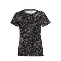 Gothic Matryoshka Russian Doll Cool Girl Woman Brand Clothing T Shirts Top Tees Short Sleeved Woman Shirts Cropped