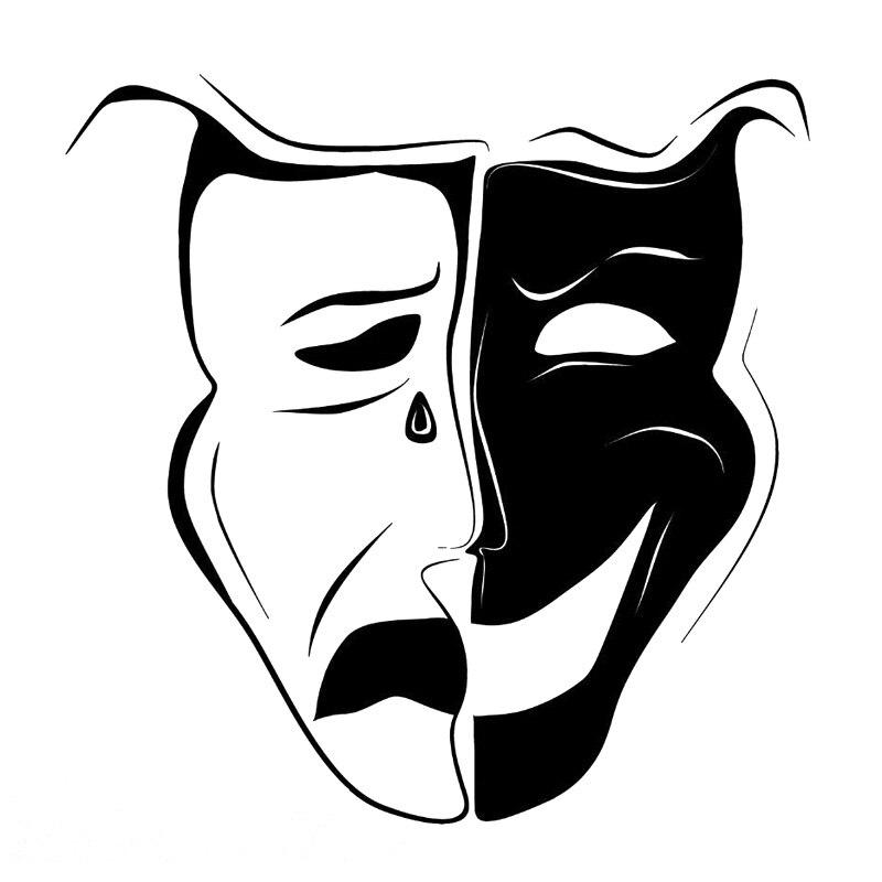 прекрасно театральные маски черно белые картинки на прозрачном фоне днем радио
