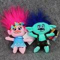 El Más Reciente 23 cm Película Trolls Peluche Amapola Rama Sueño obras de Peluche Muñecas de La Buena Suerte Trolls Regalos de Navidad Para niños