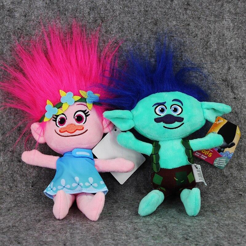 Φ_ΦEl más nuevo 23 cm película trolls Peluche de juguete Poppy rama ...