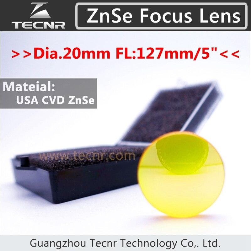co2 laser focus lens 20mm Dia 127mm Focus Length USA imported ZnSe