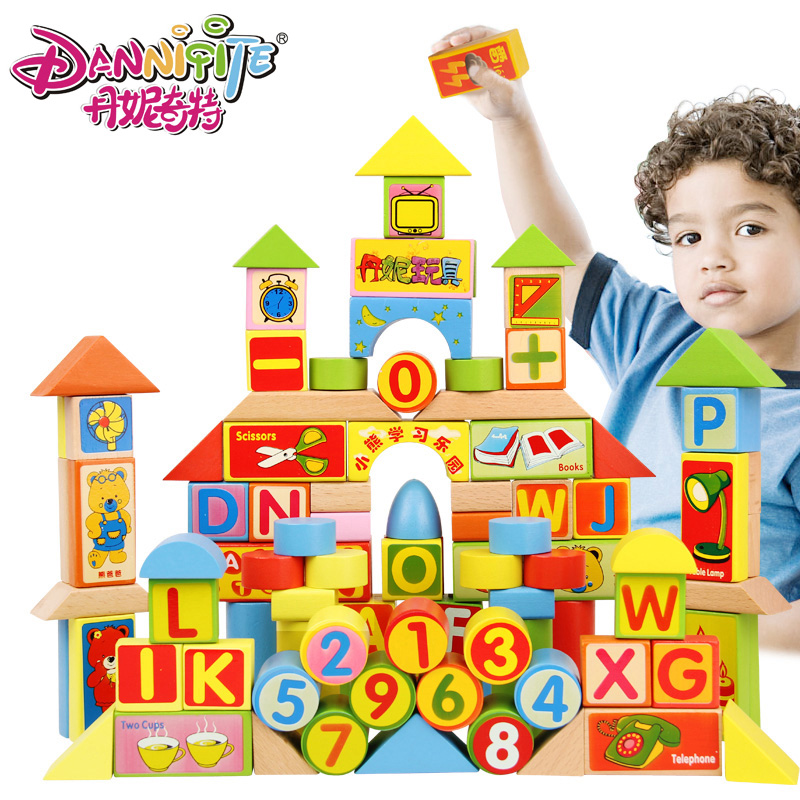 Golden Key 100pcs Colorful Building Blocks Imported Beech Wooden Toys Educational Learning Gifts Kids Stacking Toys 100pcs wooden building blocks brick kids educational learning toys set