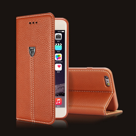 imágenes para Caso para el iphone 7 Plus Cubierta Del Tirón Del Cuero Soporte de la Carpeta de Lujo Retro Accesorios de negocios Marca Case para el iphone 6 6 S Plus 5S 5 SÍ
