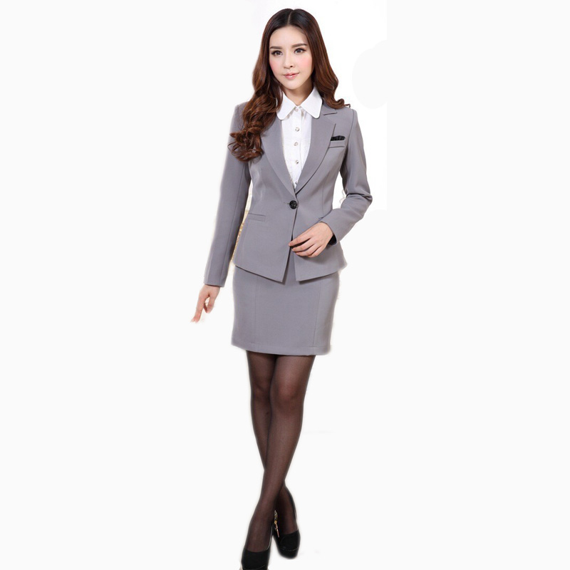 Online buy wholesale ladies work suits designs from china for Office uniform design 2015