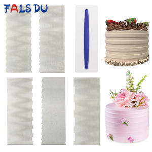 Cake-Decorating-Tools Pastry Comb Stainless-Steel 1pcs