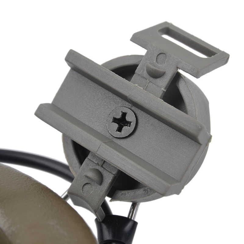Z-טקטי Airsoft Comtac השני אוזניות עם Peltor קסדת רכבת מתאם סט עבור מהיר קסדות רעש ביטול אוזניות