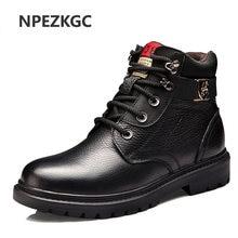 173c0b2c NPEZKGC zapatos hombres Invierno Caliente cómodo del cuero genuino Martin  botas de nieve botas impermeables hombres