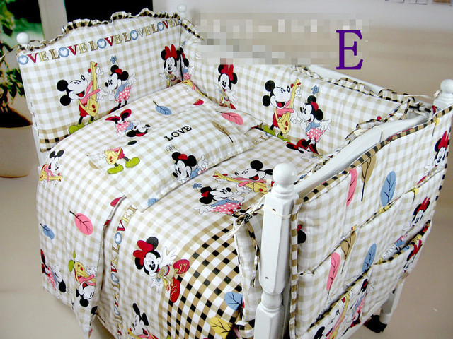 Minnie Mouse Crib Bedding Baby Cotton Set Free Shipping Nursery
