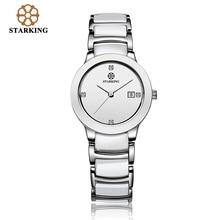 STARKING Luxury Brand Quartz Watches Women Calendar Ceramic Dress Wristwatches BL0952 Ladies Bracelet Waterproof Watch Clocks
