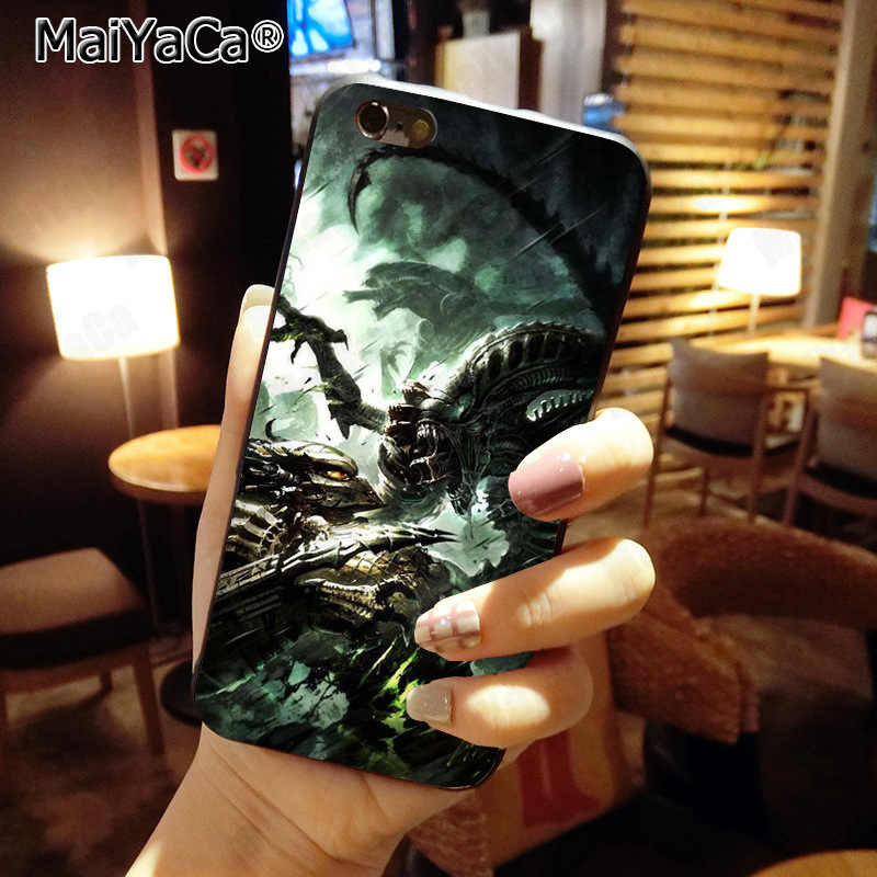 MaiYaCa Alien Vs Predator Neue Ankunft Mode telefon fall abdeckung für Apple iphone 11 pro 8 7 66S Plus X 5S SE XS XR XS MAX Abdeckung