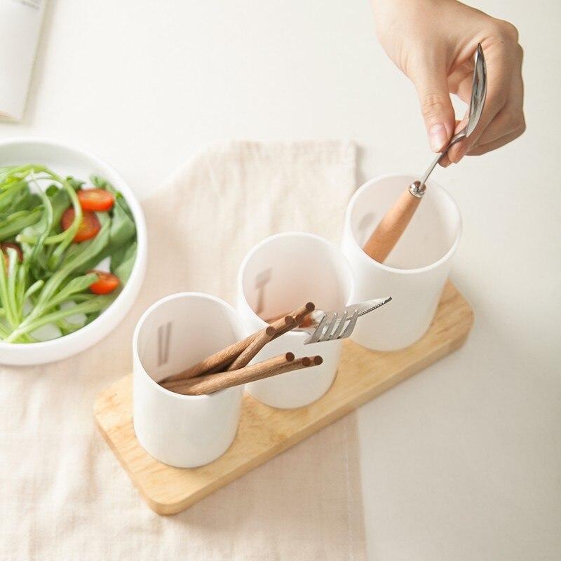 Bakingchef посуда хранения Слив Стойки чашки палочки для еды вилка сухой стенд держатель Контейнер домой организатор аксессуары поставок Шесте...