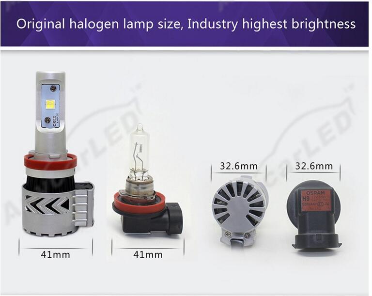 1 Set H4 HB2 9003 80 W 12000LM G8 LED Headlight Kit XHP-50 4LED SMD - Lampu mobil - Foto 5