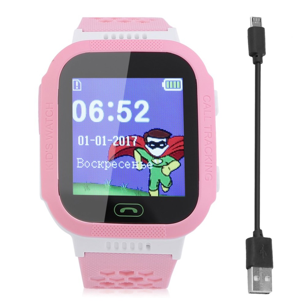Positioning Kids Wristwatch Waterproof GPS Tracker Children Safe Smart Watch For Android For IOS Anti Lost Monitor