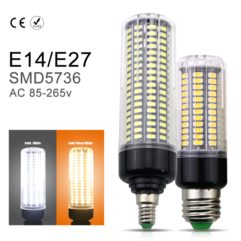 No Flicker LED Bulb 110V SMD5736 E27 Aluminum Corn Lamp E14 220V LED Energy Saving Home Lights Bulb LED High Power More Bright