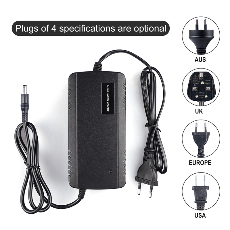 54.6V charger microphone head for 48V Li-ion battery of electric bicycle ebike