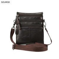 Genuine Leather Cell Phone Pouch Bag Shoulder Pocket Wallet Pouch Case Neck Strap For Samsung For