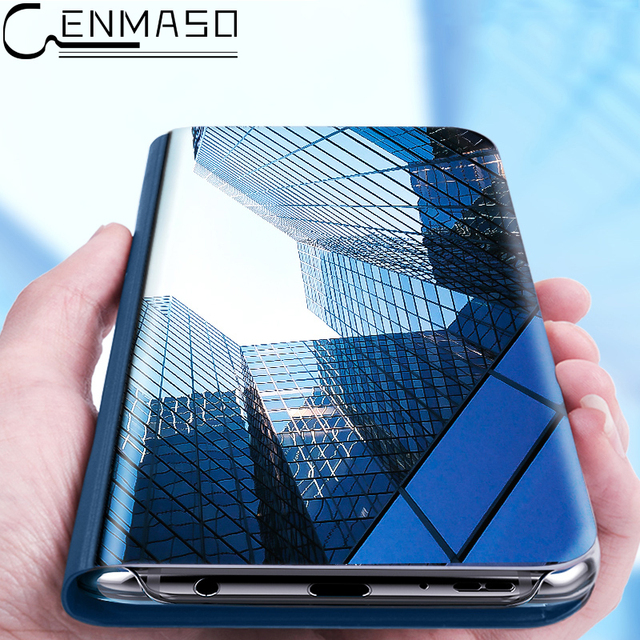 size 40 a4516 c63be US $9.72 10% OFF|For HUAWEI Mate 10 Lite Case HUAWEI Nova 2i 3e Case Clear  Mirror Smart View Window Flip Case For HUAWEI P20 Lite Case Cover Capa-in  ...