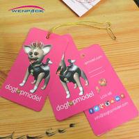 custom printed price paper gift hang tag/logo swing hang tag /free fee design