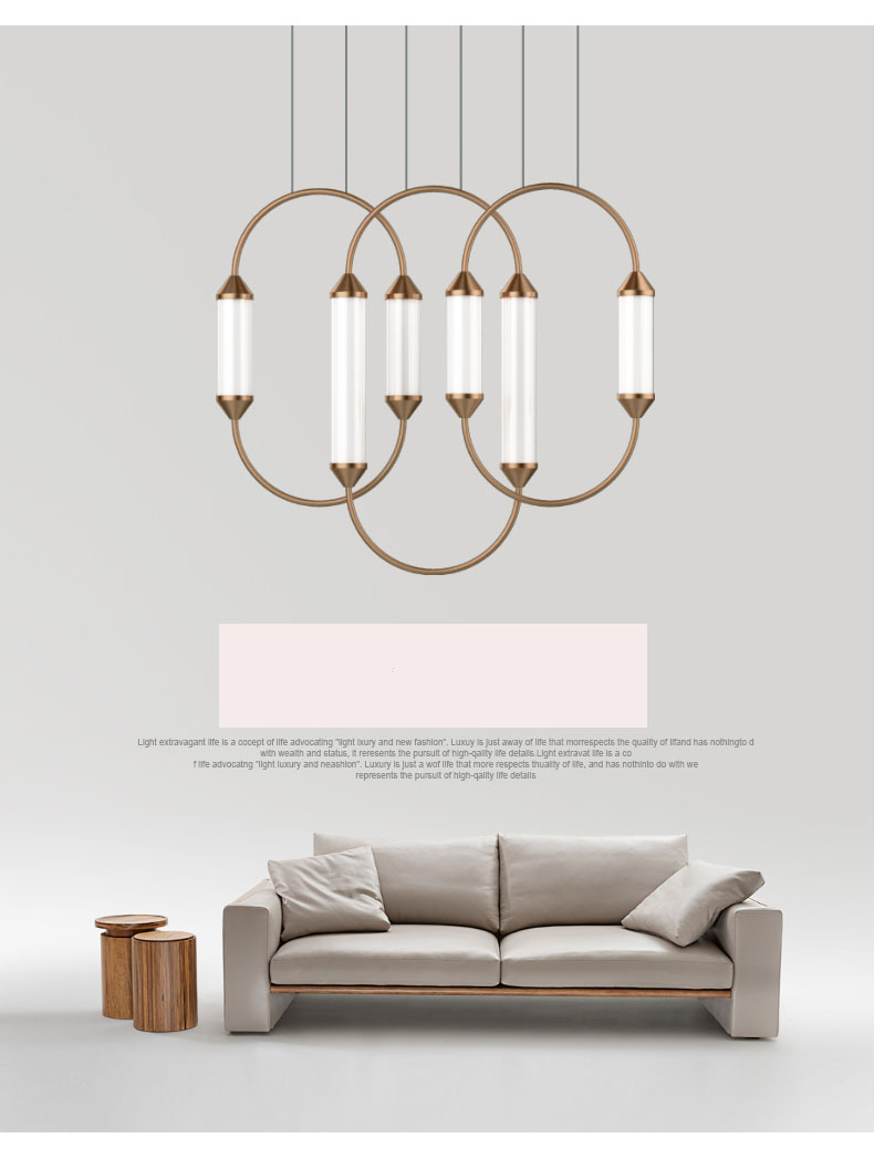 Postmodern LED copper-colored chandelier modern simple light luxury living room lamp Nordic creative dining chandelier personalPostmodern LED copper-colored chandelier modern simple light luxury living room lamp Nordic creative dining chandelier personal