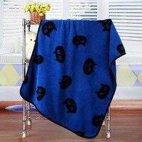 Blaues Kätzchen Kopf Pet Cat Rest Flanelldecke Hund Kissen Warme schlaf Nickerchen Abdeckung Matte Quilt Plüsch Teppich Korallen Fleece Hund Zubehör