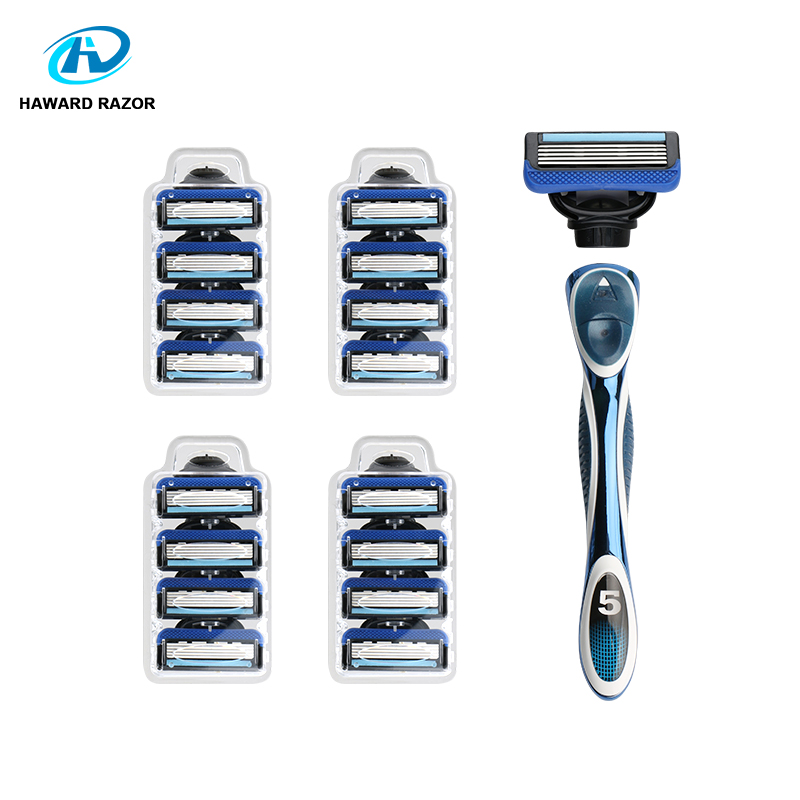 HAWARD RAZOR 5 Blade Shaving Razor 1 metal Handle & 17 Cartridges System Razor For Men razor pro xxx page 5