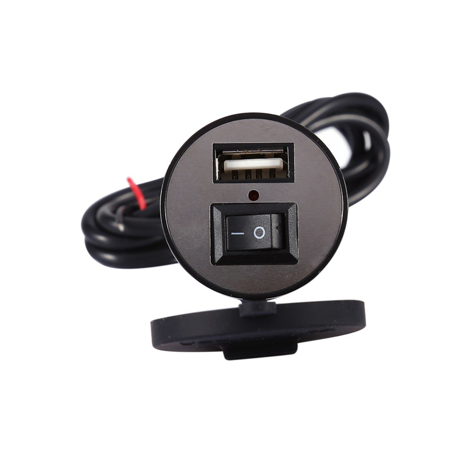 12-24V Universal USB Charger Motorcycle Power Adapter Socket Usb Charger Waterproof Auto Charger Adapter For Mobilephone GPS universal 1000ma usb car charger adapter for digital devices black 12 24v