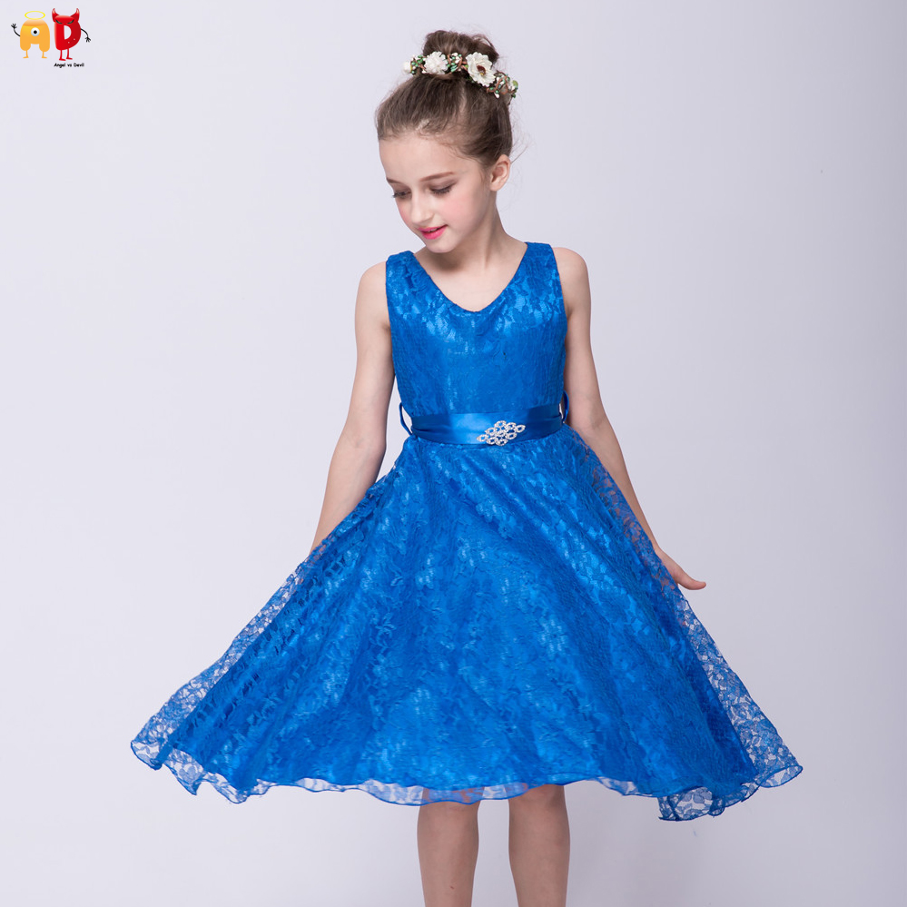 Ad Formal Girls Dresses Birthday Party Prom Performance Costume