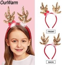 Deer Horns Christmas Headbands for Kids