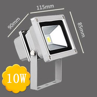 10w RGB Color LED Floodlight Lamps With Remote Control AC85 265V Aluminum Alloy Tempered Glass 3