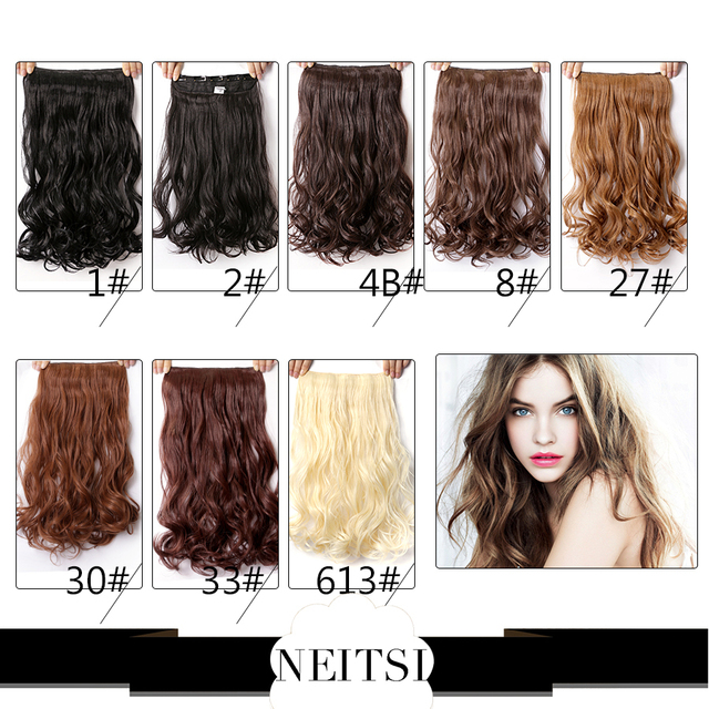 Neitsi 100 Kanekalon Synthetic Clip In On Hair Weave Extensions
