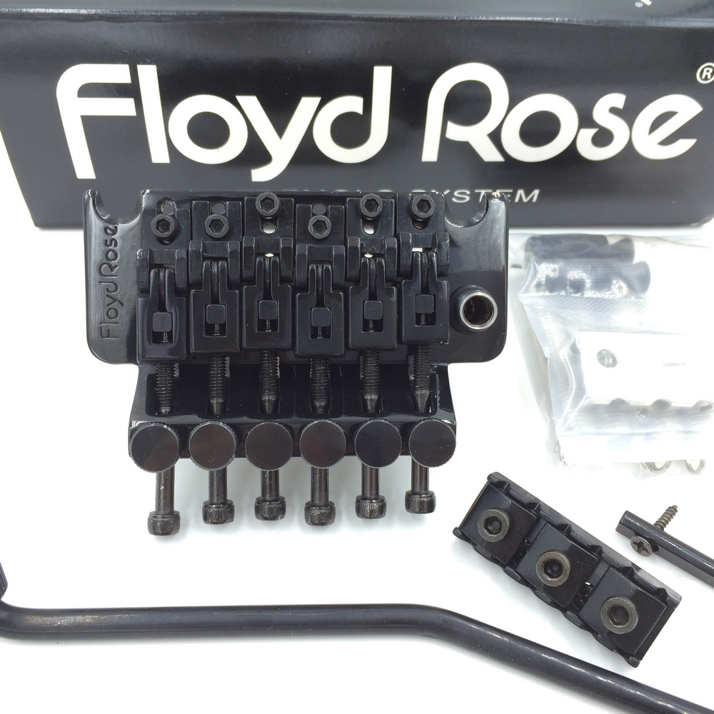 Original Floyd Rose 3000 Series Electric Guitar Locking Tremolo System Bridge FRT03000 Black (without packaging & accessories) floyd rose 3000 series electric guitar double locking tremolo system bridge frt03000 black without packaging