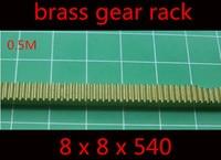 1PC 0.5m brass rack gear 8 x 8 x 540