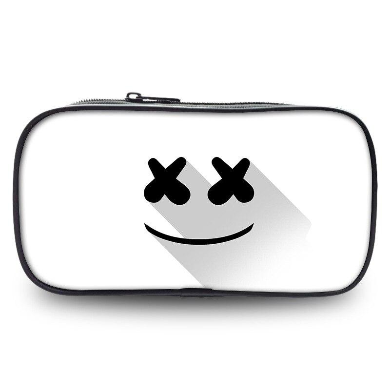 Wallet Pencil-Case Storage-Bag Marshmellow Dj Boys Girls Stationery Gifts School-Supplies