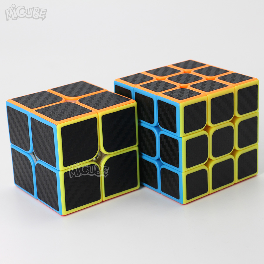 Carbon Fiber Cube Magic 2x2 3x3 Speed Cube 3x3x3 2x2x2 Moyu Cube Game Puzzle Neo Cubo Magico Toys For Children