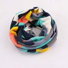 Новинка; зимний теплый шарф со звездами для мальчиков; Детские шарфы с кольцом на шею