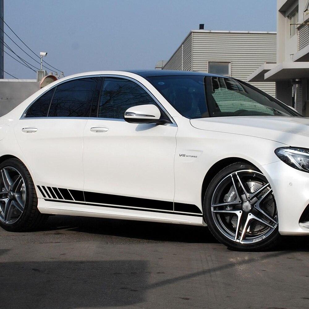 Autocollant à rayures latérales pour Mercedes Benz C Class W205 | Édition 1 jupe latérale pour berline C63 C180 C200 E classe W213 AMG, accessoires