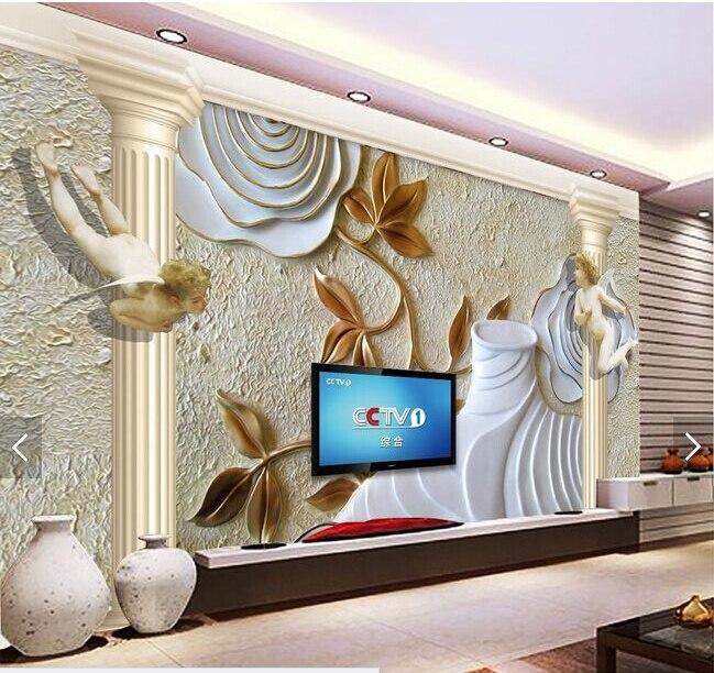 ᗛKustom Eropa a wallpaper Rome pilar dan malaikat 3D retro