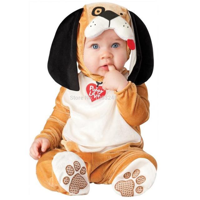 puppy love baby costume infant fancy halloween costume animal romper bodysuit