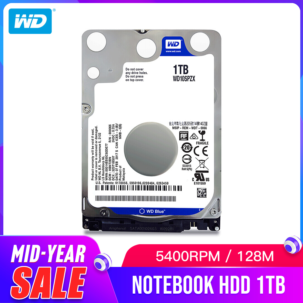 WD Western Digital bleu 1 to hdd 2.5 SATA WD10SPZX disco duro ordinateur portable interne disque dur Sabit disque dur pour ordinateur portable HD
