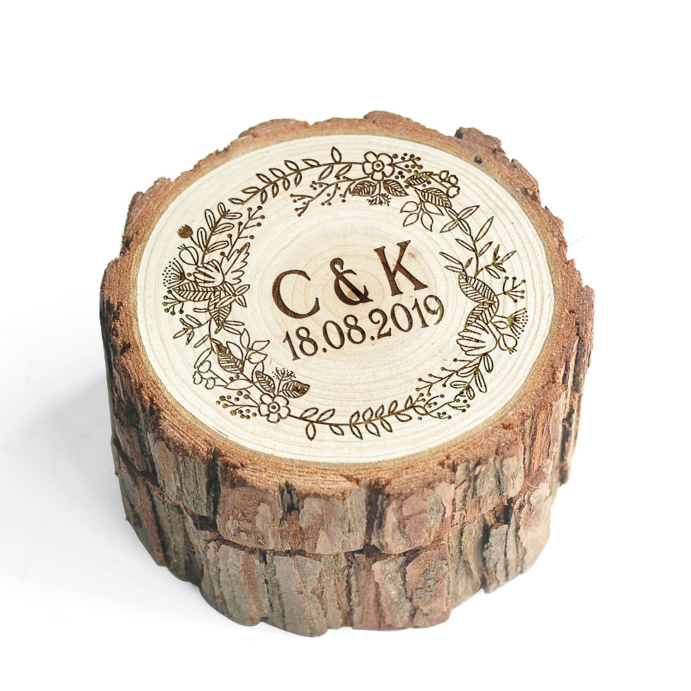Personalized Ring Box,Rustic Wedding Ring Box,Wooden Ring Holder,Customized Wedding Ring Bearer Box,Engagement Box