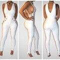 Дикий готический стиль rompers женщин комбинезон v шеи нахальный боди женщины комбинезоны белый длинные брюки vestidos S3116